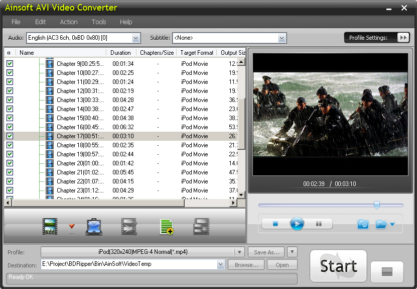 Ainsoft AVI Video Converter 1.0.1.23