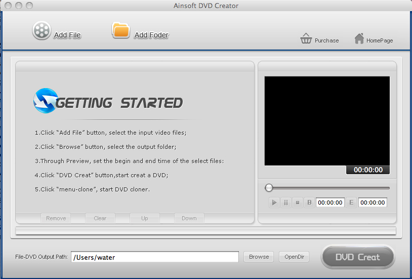 Ainsoft DVD Creator for Mac 1.0.0.0
