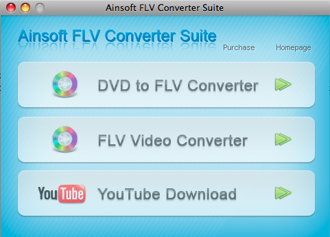 Ainsoft FLV Converter Suite for Mac 1.0.0.0