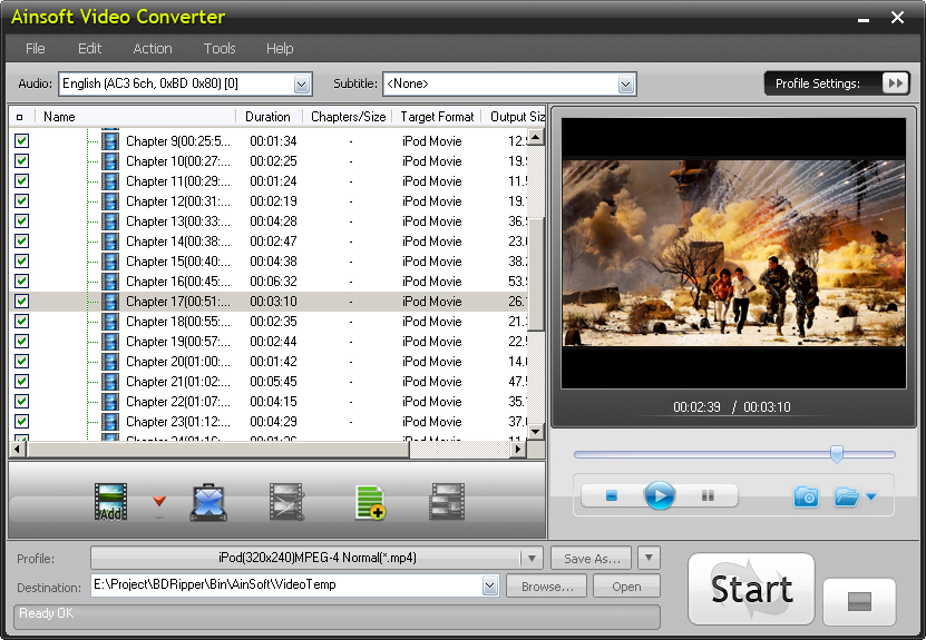 Ainsoft Video Converter 1.0.1.23
