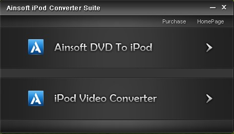 Click to view Ainsoft iPod Converter Suite screenshots
