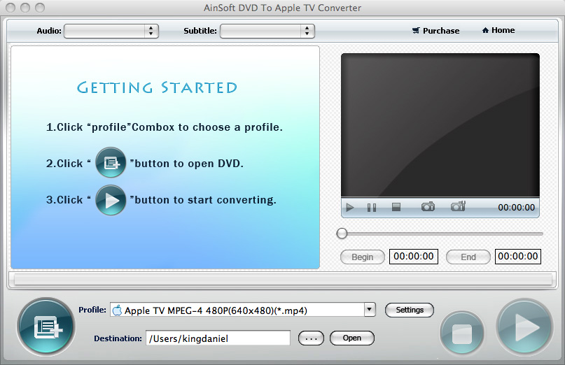 Ainsoft DVD to Apple TV for Mac 1.0.0.0