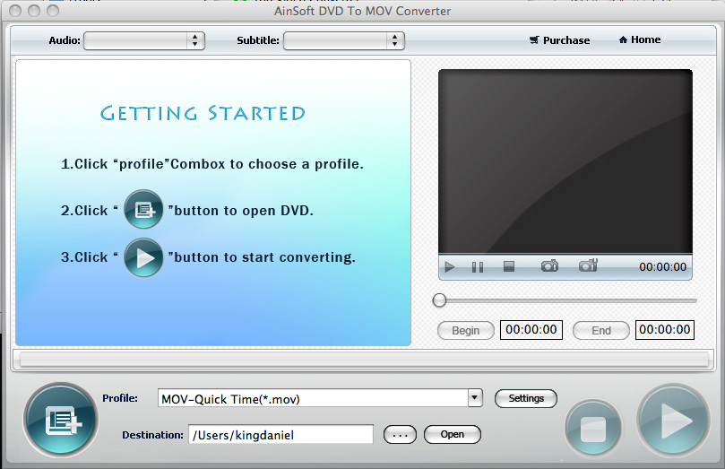 Ainsoft DVD to MOV Converter for Mac 1.0.0.0